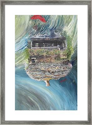 Sad House2 Your Dreams Flew Away Framed Print by Lisa Kramer