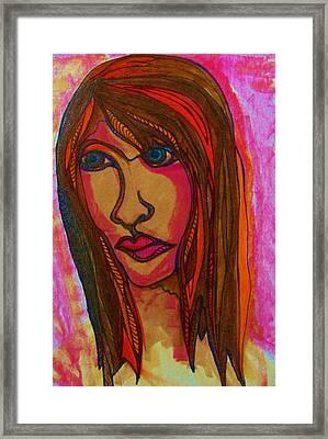 Sad Reflections Framed Print by Gerri Rowan