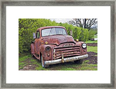Sad Truck Framed Print by Susan Leggett