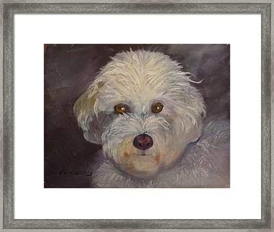 Framed Print featuring the painting Sadie by Carol Berning