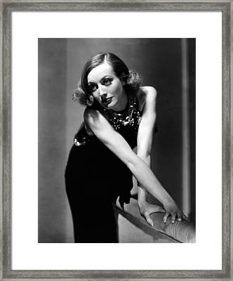 Sadie Mckee, Joan Crawford, 1934 Framed Print by Everett