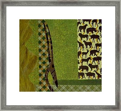 Safari Framed Print by David Raderstorf