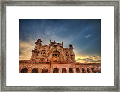 Safdarjung's Tomb Framed Print by Sudiproyphotography