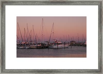 Framed Print featuring the photograph Safe Harbor by Brian Wright
