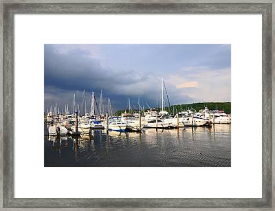 Safe Harbor Framed Print by Christine Stonebridge