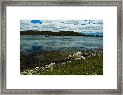 Safe Harbor Framed Print by Cindy Rubin