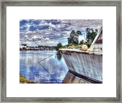 Safe Harbor Duke 111 Framed Print by Michael Thomas