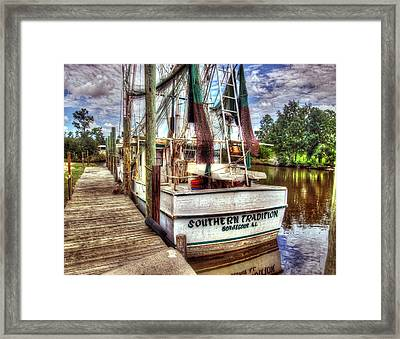 Safe Harbor Southern Tradition Framed Print by Michael Thomas