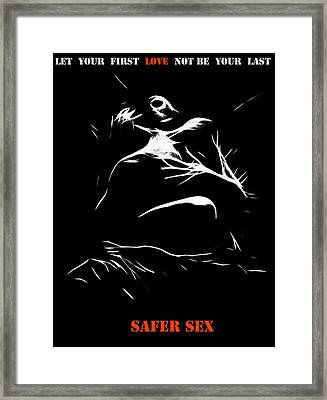 Safer Sex Framed Print