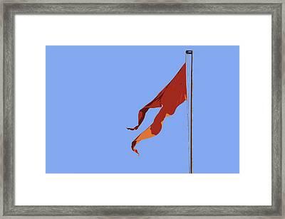 Saffron Flag Framed Print