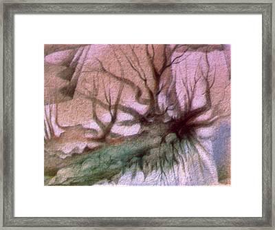 Sagada Hanging Roots 1982 Framed Print by Glenn Bautista