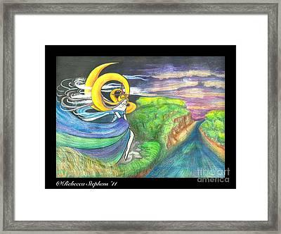 Sage Moon Framed Print by Rebecca Stephens
