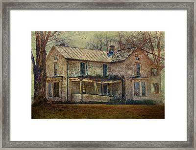 Saggy Porch Framed Print by Kathy Jennings