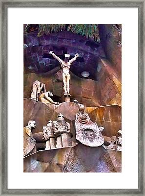 Sagrada Facade Framed Print by Artistic Photos