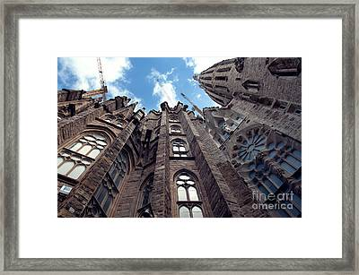 Sagrada Familia In Barcelona Framed Print by Design Remix