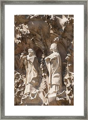Sagrada Familia Nativity Facade Detail Framed Print by Matthias Hauser
