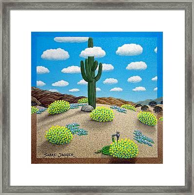 Saguaro Framed Print by Snake Jagger