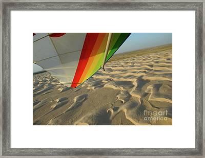 Sahara Desert Seen From Hang Glider Framed Print by Sami Sarkis