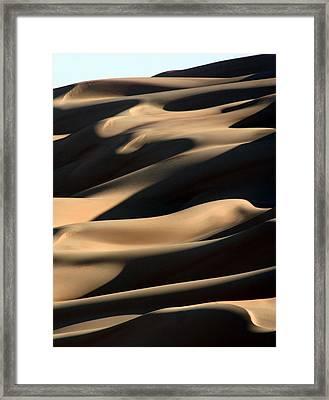 Sahara Sand Shadows Framed Print