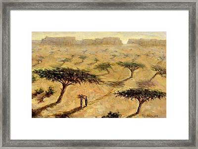 Sahelian Landscape Framed Print by Tilly Willis