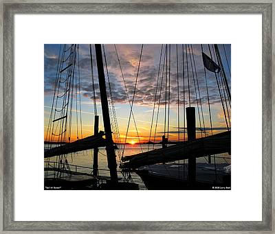 Sail At Sunset Framed Print
