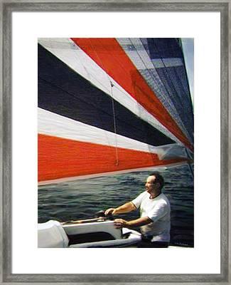 Sail Away Framed Print by Walt Jackson