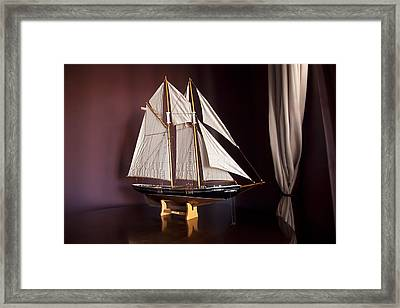 Sail Boat Framed Print by Miguel Capelo
