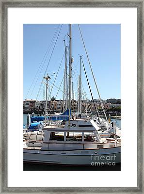 Sail Boats At The San Francisco Marina - 5d18189 Framed Print by Wingsdomain Art and Photography