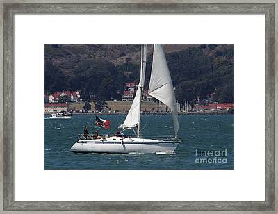 Sail Boats On The San Francisco Bay - 7d18326 Framed Print by Wingsdomain Art and Photography