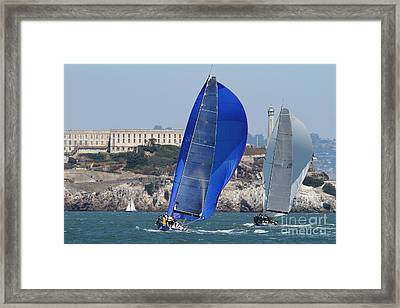 Sail Boats On The San Francisco Bay - 7d18355 Framed Print by Wingsdomain Art and Photography