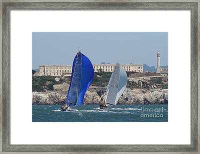 Sail Boats On The San Francisco Bay - 7d18360 Framed Print by Wingsdomain Art and Photography