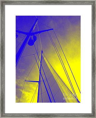 Sail Into Yellow Framed Print