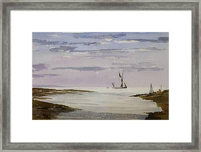 Sail On By Framed Print by Rob Hemphill