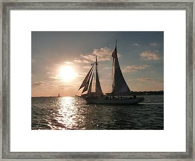 Framed Print featuring the photograph Sailboat At Key West by Jo Sheehan