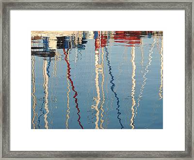 Sailboat Mast Reflection II Framed Print