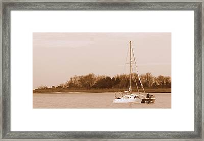 Sailboat On Chesapeake Framed Print