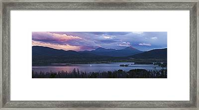 Sailboat On Lake Dillon Below A Clearing Storm, Colorado, Usa, August 2010 Framed Print by Timothy Faust