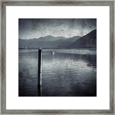 Sailboat On Lake Maggiore Framed Print