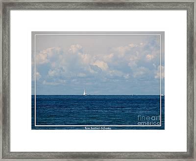 Sailboat On Lake Ontario Framed Print by Rose Santuci-Sofranko