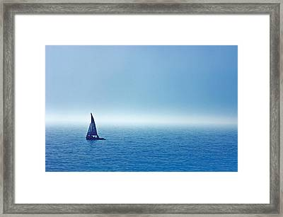 Sailboat On The Water, Wahnekewaning Framed Print