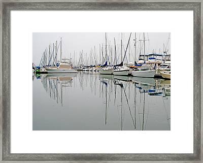 Sailboat Reflections Framed Print by Gil Kanat