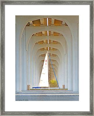 Sailboat Sanctuary Framed Print