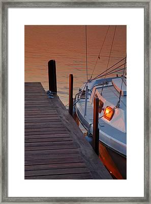 Sailboat Sunrise Framed Print by Steven Ainsworth