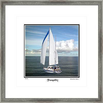 Sailboat Tranquility Framed Print