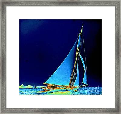 Sailboat Wayward 1890 Framed Print by Padre Art