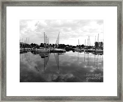 Sailboats At Bluffers Marina Toronto Framed Print