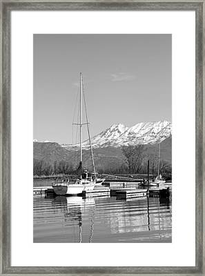Sailboats At Utah Lake State Park Framed Print by Tracie Kaska