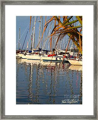 Sailboats In Porquerolles Framed Print by Robin Ziegelbaum