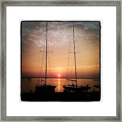 Sailboats In The Sunset Framed Print by Dustin K Ryan