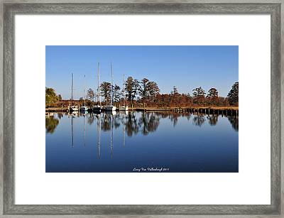 Sailboats Framed Print by Larry Van Valkenburgh